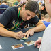Antoine Bauza, Gamedesigner signs playing cards for fans