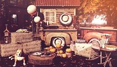 Almost Paradise (Sadystika Sabretooth) Tags: homedecor kustom9 secondlife ariskea autumn belleevents cider disorderly dustbunny fall flannel halfdeer harvest hay kraftwork leaves mancave merak pumpkin rezzroom sweater tarte thor truck