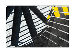 stairs - shadows - stripes (Armin Fuchs) Tags: arminfuchs nomansland dangerous stairs shadows stripes yellow diagonal niftyfifty anonymousvisitor thomaslistl wolfiwolf jazzinbaggies hff sisteron