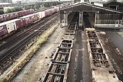 freight terminal station shed (Sat Sue) Tags: railroad railway fukuoka japan penf m43 thirds four micro olympus
