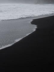Yin and Yang (edschache) Tags: newzealand beach minimal contrast yin yang black sand