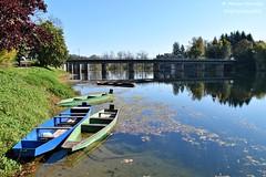 Ozalj, Karlovac County, Croatia - River Kupa (Marin Stanišić Photography) Tags: ozalj croatia karlovaccounty river kupa boats autumn reflection nikon d5500