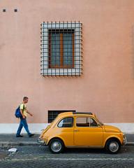 Rome, Italy (S.R.Murphy) Tags: june2018 rome italy street streetphotography socialdocumentary car people fiat wall building fujifilmxt2 fujifilmxf1855mm outside