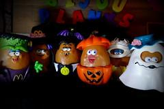 Mc7 Daze of Halloween - Bijou Planks 298/365 (MayorPaprika) Tags: mini figs figure paprihaven pvc miniature smallscale figurine diorama toy story scene custom paint bricks plastic vinyl theater bijouplanks panasoniclumixdmcfz1000 monster mcnugget witchie mcnuggula pumpkin mummie mcboo halloween mcnuggetbuddy mcdonalds happymeal