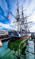 Reflected Glory (Rob Shenk) Tags: boston ussconstitution constitution sailingship frigate usnavy navy tallship warship warof1812 massachussets