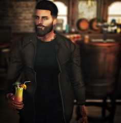 [ 📷 - 126 ] (insociable.sl) Tags: hipster tattoo ink beard wood bar pub party relax alcool drunk drink cocktail model boy man male edit sl secondlife