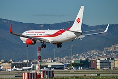 Air Algérie 7T-VKD Boeing 737-8D6 Winglets msn/40858-3406 @ LEBL / BCN 08-11-2016 (Nabil Molinari Photography) Tags: air algérie 7tvkd boeing 7378d6 winglets msn408583406 lebl bcn 08112016