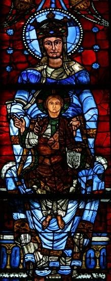 053 Витраж Южного окна хора Богородица Прекрасного окна