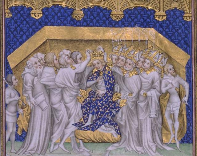 192 Большие французские хроники Коронация Карла VI, 1381