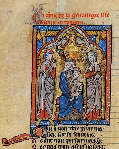 184 Жизнь и чудеса Богоматери рукопись XIII в