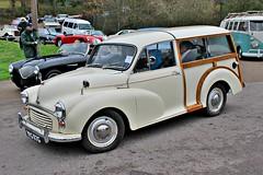 317 Morris Minor 1000 Traveller (ADO 59 Series V) (1968) (robertknight16) Tags: morris british 1950s issigonis nuffield minor mm a30 a35 brooklands brooklands2016 vpg117g traveller bmc