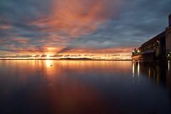 Sleeping Giant Sunrise (WTW Pics) Tags: sleepinggiant sunrise lakesuperior greatlakes bigships beautiful beauty colors sky canon5dmkii water shoreline seashore industrial reflections