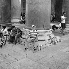Colosseum, Rome, Italy (S.R.Murphy) Tags: june2018 rome italy street streetphotography socialdocumentary people bw bnw blackandwhite whiteandblack monochrome fujifilmxf1855mm fujifilmxt2 outside man