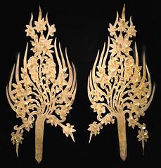 Ornements d'une couronne de roi (Musée national de Corée, Séoul)