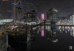 Tall Ship Zebu (alundisleyimages@gmail.com) Tags: sailingshipzebu liverpool canningdock royalalbertdock night longexposure shipping maritime historic oldfashioned yourism docks ports reflections mannisland buildings architecture newwithold citycenter water waterfront unescoworldheritagesite