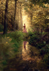 Enchanted Queen ({jessica drossin}) Tags: jessicadrossin wwwjessicadrossincom face portrait reflection trees forest nature beauty light pretty netherlands workshop
