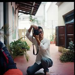 Me (Jerry501) Tags: india analog kodakportra160vc film expired nikonf4 80mm pentaconsixtl portrait selfie