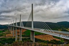 Viaduc Millau (juvhadamar) Tags: viaduc millau brücke bridge eiffel bauwerk stahl beton autobahn route languedocroussillon wolken architektur