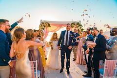 An exquisite Santorini wedding story, Elena & Adam