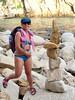 Stones (piotr_szymanek) Tags: tossa tossademar costabrava outdoor marzka woman milf beach water sea blue rock stone legs feet face glasses sunglasses portrait 1k