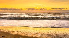 Just Southwold Beach (Aron Radford Photography) Tags: suothwold beach suffolk water sea wave sabd reflections dawn sunrise golden hour surf landscape coast pier nature