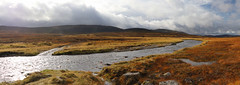 River and Mountains (steve_whitmarsh (touring 3 weeks in India)) Tags: aberdeenshire scotland scottishhighlands highlands cairngorms landscape water river rocks cloud panorama mountain hills glengeldie topic