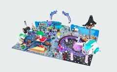 Amusement Park (gid617) Tags: lego amusement park rides coaster restaurant high fall loop
