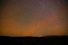 Meteor at 1:04am MDT