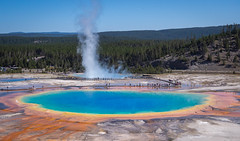 gorgeous colors variety (kleiner_eisbaer_75) Tags: grand prismatic spring yellowstone nationalpark wyoming usa energy thermalquelle quelle heis hot geothermal colors farben