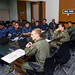 U.S. Navy and Royal Brunei Armed Force service members discuss mission plans during CARAT Brunei
