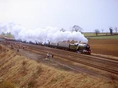 Get off the track!  4472 at Little Bytham 27.2.83 (Neville Wellings) Tags: 4472 60103 ecml flyingscotsmam trespass littlebytham