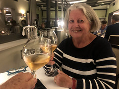 Ritsa with Champagne (RobW_) Tags: ritsa champagne dinner restaurant lesgrainsdargent dizy epernay france friday 18oct2019 october 2019 diaryphoto mdpd2019 mdpd201910