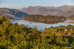 "Setting sun on Loch Morar and islands, in a view from Morar Cross. (Scotland by NJC.) Tags: sunset nightfall dusk sundown gloaming twilight غُرُوبُ الشَّمْس ""pôr do sol"" solnedgang zonsondergang crepúsculo sonnenuntergang ηλιοβασίλεμα tramonto ""закат солнца"" solnedgång lakes lochs reservoirs waters meres lago 湖 jezero sø meer see λίμνη 호수 island isle islet archipelago atoll key جَزِيرَةٌ ilha île insel νησί isola wyspa insulă остров mountains hills highlands peaks fells massif vuori montagne βουνό montagna fjell lochmorar scotland"