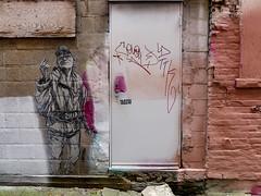 Alley Art (J Wells S) Tags: alleyart wallart mural streetart door grafitti bricks urban urbanart findlaymarket overtherhine otr cincinnati ohio blinkcincinnati