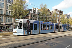 Nieuwezijds Voorburgwal - Amsterdam (Netherlands) (Meteorry) Tags: europe nederland netherlands holland paysbas noordholland amsterdam centrum centre center nieuwezijdsvoorburgwal nzvbw siemens combino 13g gvb13 blue bleu zalando gstarraw jeans denim tram streetcar tramway public transport publique transportencommun transit gvb gvb2088 october 2019 meteorry