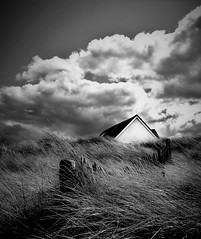 house in the dunes (kevin.fahy1) Tags: monochrome contrast sky outdoor moody cloud blackandwhite uk bw