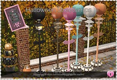 Halloween Streetlamps (Oriana Kuhr) Tags: dillydolls dd sl secondlife hunt hocuspocus hp mesh new original scripted halloween decor decoration decorate lamp lantern streetlamp event