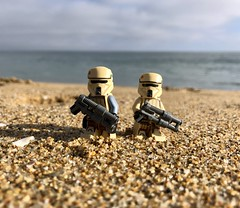 Shoretrooper Duo (socalbricks) Tags: shoretrooper trooper imperial galacticempire rogueone scarifstormtrooper lego legophotography minifig beach scarif stormtrooper minifigure