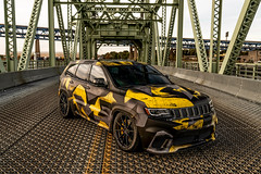 "Jeep Grand Cherokee Trackhawk on 22"" Vorsteiner V-FF 109 Wheels (vibemotorsports) Tags: vibemotorsports vorsteiner jeep trackhawk black yellow vff109 bagged grey carbongraphite wrap grandcherokee glossblack"