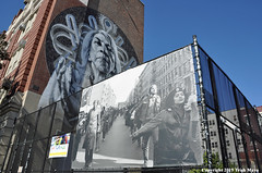 Mapping Resistance: The Young Lords (Trish Mayo) Tags: fence photo mural art publicart eastharlem elbarrio