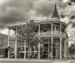 The Weatherford (Alex Fidler) Tags: flagstaff arizona unitedstates weatherford hotel zane grey blackandwhitephoto