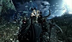 La porta dell'inferno - The door of hell (Luca Arturo Ferrarin) Tags: secondlife hell halloween phantom opera lover love couple beautiful darkness dark skeleton silence