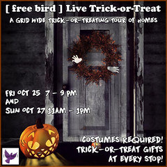 [ free bird ] Live Trick-or-Treat Event 2019 (honeyheart1) Tags: halloween animesh horse skeleton trickortreat freebird harvestmoon eliteequestrian second life sl