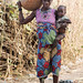 Kambari woman with repaired calabash