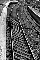"""The next train to leave platform will stop at ........"" (Ian Ramsay Photographics) Tags: sydenham newsouthwales australia marrickville sydney railwaystation platform belmore centralstation title branchline electrified monochrome canon camera"