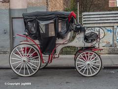 Horsedrawn Carriage, Hell's Kitchen, New York City (jag9889) Tags: 2019 20191025 carriage clinton coach hellskitchen horsedrawn kutsche manhattan ny nyc newyork newyorkcity outdoor stagecoach usa unitedstates unitedstatesofamerica vehicle jag9889