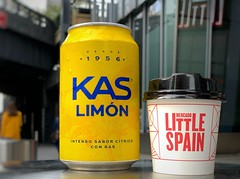 Lemon Soda and a Cortada (Mr.TinDC) Tags: nyc newyorkcity ny newyork cup can drinks cortado beverages
