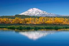 Autumn Mt Adams Trout Lake 7663 C (jim.choate59) Tags: jchoate on1pics reflection lake mountains mountadams klickitatcounty washington leaves fall fallcolors water blue d610 autumn