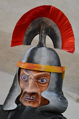 Anger Management (dhcomet) Tags: stalbans alban cathedral abbey church religion cofe pilgrimage puppet roman soldier