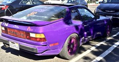 Purple Porsche 944 (rulenumberone2) Tags: vanityplate licenseplate porsche944